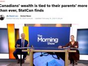 """加拿大人也""""拼爹""""  统计局最新数据:孩子收入很可能随父母"""