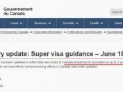好消息!超级签证在加拿大居留期限更新了!