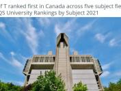多伦多大学五个学术领域排名,均在加拿大排第一!
