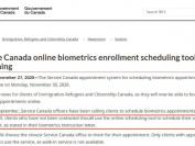 加拿大签证申请指纹采集重开,今天开起开放预约!