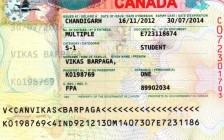 加拿大学生签证的大签,小签和续签