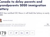 加拿大父母与祖父母团聚移民抽签将推迟到2021年初!