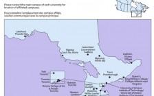 加拿大安大略省Ontario大学分布