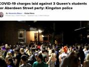 加拿大安省女王大学3名大学生邀请数百人派对被起诉