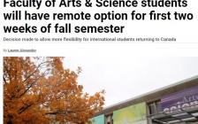 多伦多大学官宣:秋季前两周可选网课,9月24日起返校!