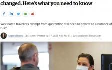 加拿大境内旅行及入境规则已改变 这些你需要知道