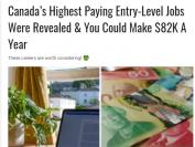 加拿大15个入门级职位年薪高达8万!