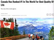 最新排名:加拿大生活质量全世界排名第一!五连冠!