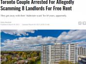 多伦多夫妇十年骗租坑了8位房东 终于被抓