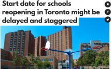 多伦多公立学校将考虑推迟开学时间!9月8日不一定开学