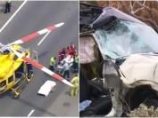 澳洲女留学生惨遇车祸 被困1小时后直升机送院