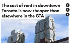 多伦多市中心房价大跌!公寓租金甚至比北约克公寓还便宜好几百!