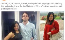 南京24岁女留学生遭英国男友暴打致死  生前长期受虐