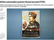 多伦多大学主校区惊现白人种族主义海报,加拿大人只能是白人?