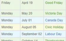 2019年安省都有哪些公休日呢?一文看懂加拿大节假日