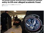 美国亚利桑那州立大学9名中国留学生洛杉矶机场被遣返