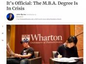 商科危机?哈佛商学院申请人数减少