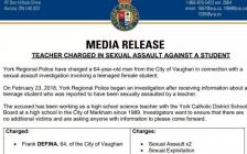 大多伦多地区万锦市华人区名牌公立高中再爆性侵案,女学生被64岁老师性侵