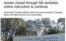 加州23所大学取消毕业典礼,秋季不开学,48万学生继续在线上课
