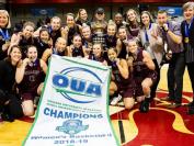 麦克马斯特大学女子篮球队夺得全国总冠军