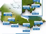 来看看加拿大各地中产阶级收入排行!找找你在哪一级